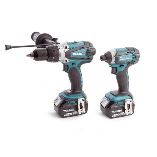 Makita DLX2145 18V Twin Pack - DHP458 Combi Drill + DTD152 Impact Driver (2 x 3.0Ah Batteries)
