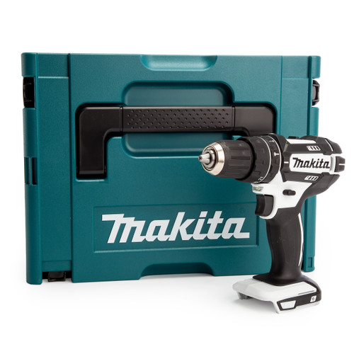 Makita DHP482 18V LXT White Combi Drill in Makpac Case (Body Only)