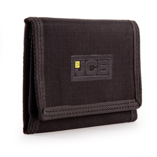 JCB W1 Nylon Weave Bi-Fold Wallet in Black