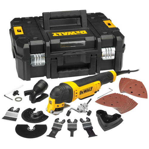 Dewalt DWE315KT Multi Tool with Tool-Less Accessory Change, 37 Accessories & TStak Case (240V)