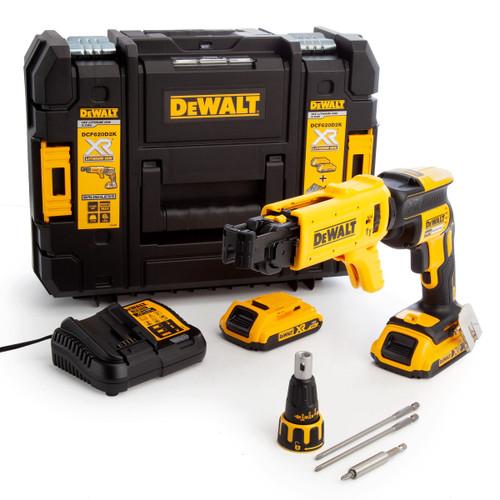 Dewalt DCF620D2K 18V Brushless Drywall Collated Screwdriver (2 x 2.0Ah Batteries)
