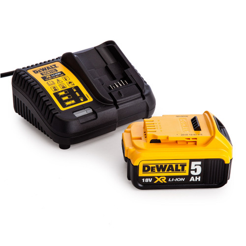 Dewalt DCB115 Multi Voltage XR Charger + DCB184 18V 5.0Ah Battery
