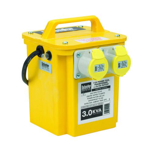 Defender E203010 3kVA Transformer 2x 16A 110V Outlets