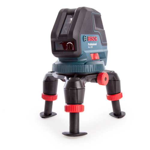 Bosch GLL 3-50BMLRLBX Red Self Levelling Line Laser with BM1 Wall Mount, LR2 Receiver & L-Boxx
