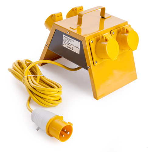 Toolstop 4 Way Splitter Box 110V