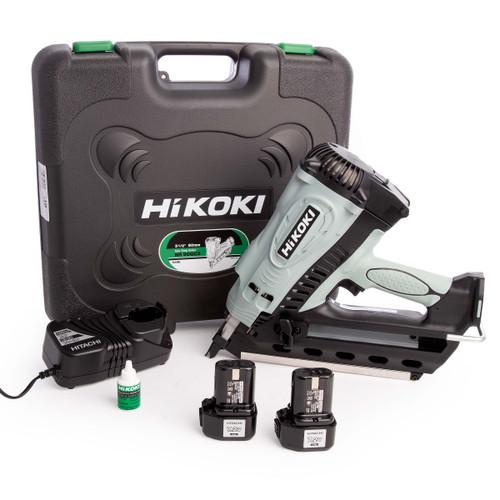 HiKOKI NR90GC2/J8Z Gas Clipped Head 1st Fix Framing Nailer (2 x 1.5Ah Batteries)