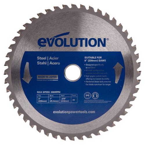 Evolution EVOBLADE230 Circular Saw Blade for Mild Steel 230 x 25.4mm x 48T