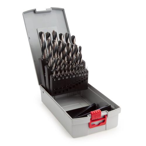 Bosch 2608577352 HSS PointTeQ Drill Set for Metal 1 - 13mm (25 Piece)