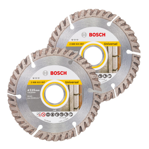 Bosch 06159975S9 Diamond Blade Twin Pack 115mm