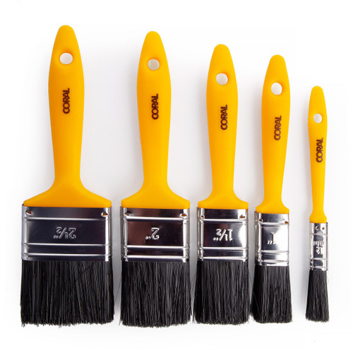 Coral 31302 Essentials Paint Brush Set (5 Piece)