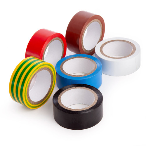 Coral 71350 Multi-Coloured Insulating Electrical Tape 6 Piece
