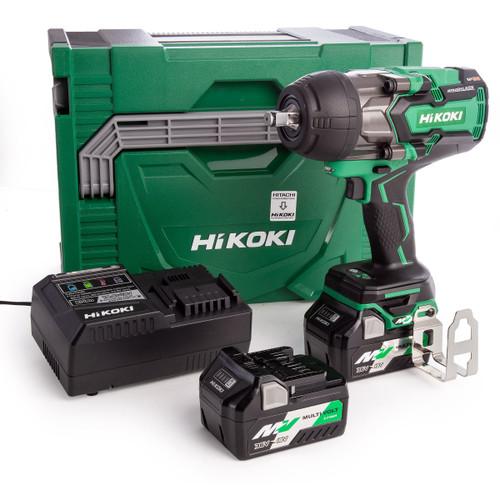 HiKOKI WR36DBJRZ 36V Brushless Impact Wrench 1/2in Drive (2 x Multi-Volt Batteries)