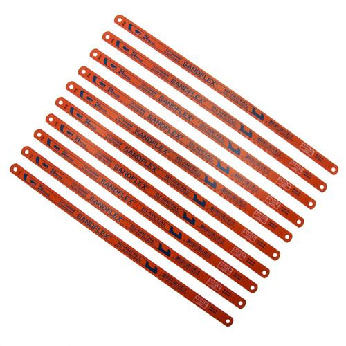 Bahco 3906 Sandflex HSS Bi-Metal Hacksaw Blades 12 Inch x 24TPI (10 Pack)