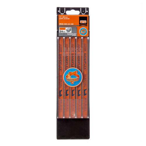 Bahco 3906 Sandflex HSS Bi-Metal Hacksaw Blades 12 Inch x 24TPI (100 Pack)