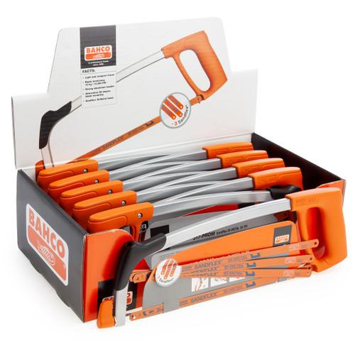 Bahco 317-PROM Sandflex Bi-Metal Single Hacksaw with 4 x 12 Inch Blades (Box of 10)