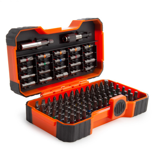 Bahco 59/S100BC Assorted Screwdriver Bit Set with 2 Bit Holders (100 Piece)