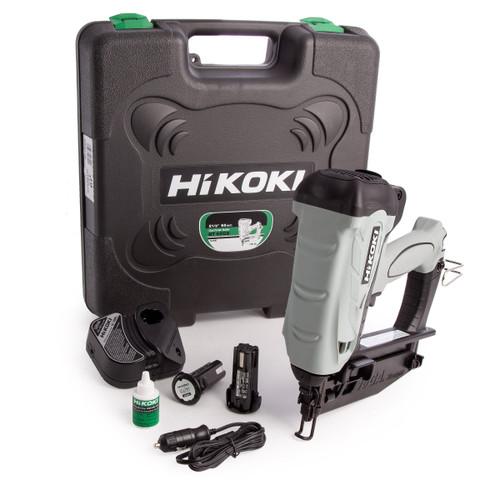 HiKOKI NT 65GS 3.6V Gas Finish Nailer 65mm (2 x 1.5Ah Batteries)