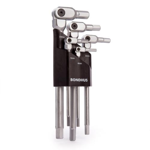 Bondhus 00028 Pivot Head Hex-Pro Set 4-10mm (5 Piece)