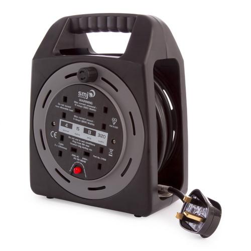 SMJ CT1513 15m 4 Socket Thermal Cutout Cabel Reel 240V