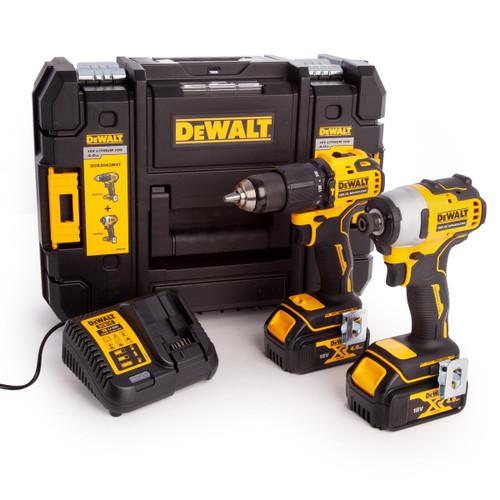Dewalt DCK2062M2T 18V XR Combi Drill & Impact Driver Twin Pack (2 x 4.0Ah Batteries)