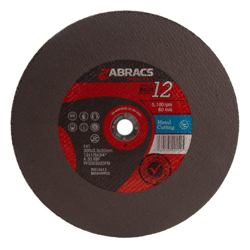 Abracs PF3003020FM Proflex Flat Metal Cutting Discs 300mm x 3.5mm x 20mm (Pack Of 25)