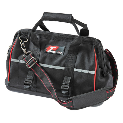 "TECHNICS PT130016 Black Hardbottom Tool Bag 16"""