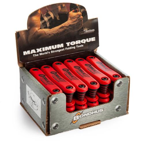 Bondhus 18491 Gorilla Grip Fold Up Hex Key Set 1.5mm - 6mm (Box of 12) TS