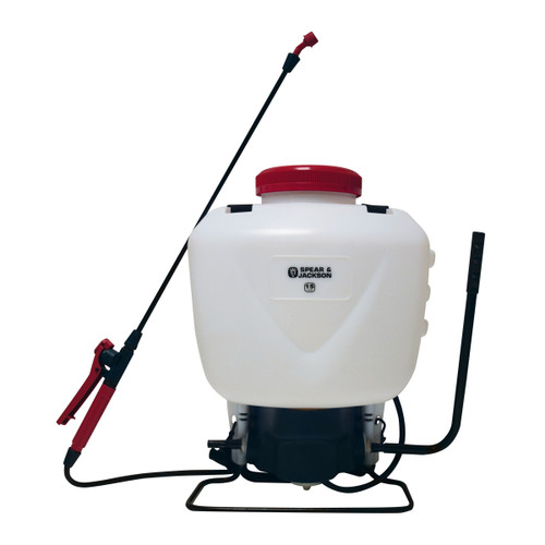 Spear & Jackson 15LPAPS Backpack Style Pump Action Pressure Sprayer 15L