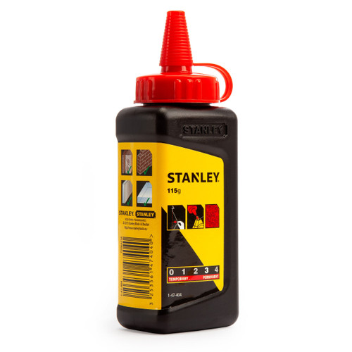 Stanley 1-47-404 Red Builders Chalk 115g