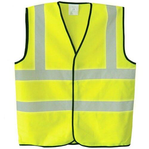 Toolstop TP500 Hi-Vis Polyester Waistcoat Vest - Yellow
