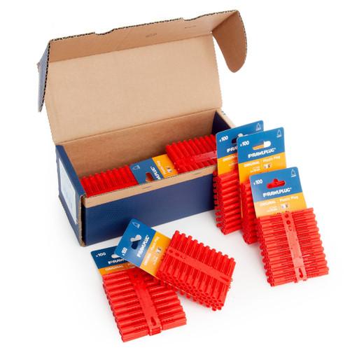 Rawlplug 10 x 100 R-OLD-RED-100-C (67-134) Rawlplugs on a Card - 6mm x 35mm
