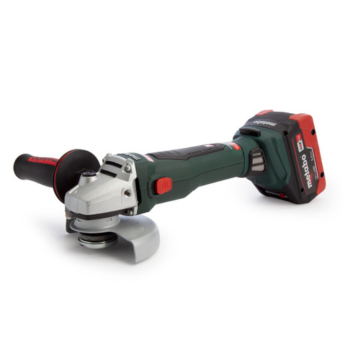 Metabo 613077660 WB 18 LTX BL 125 Quick 5 inch/125mm Angle Grinder (2 x 5.5Ah Batteries)