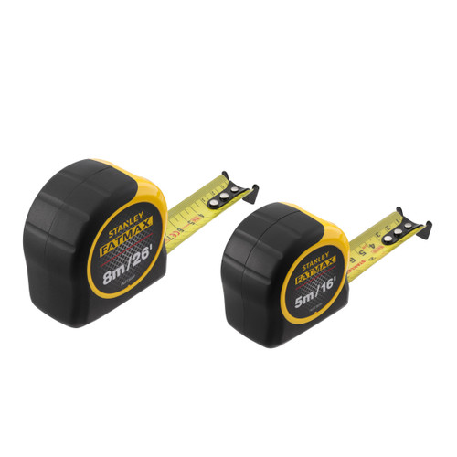 Stanley FMHT81745-0 FatMax Metric/Imperial Classic Tape Measure Twin Pack (5m & 8m)