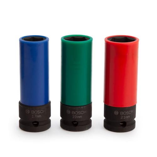 Bosch 2608551102 Impact Control Socket Set 1/2in (3 Piece)