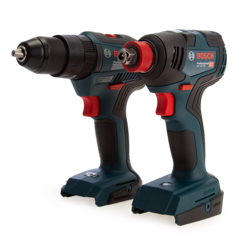 Bosch 06019J2203 Professional Brushless Twin Pack - GSB 18V-55 Combi Drill + GDX 18V-200 Impact Wrench (Body Only)