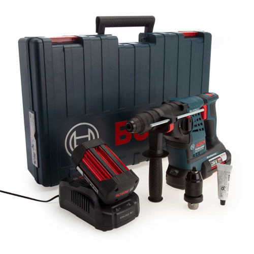 Bosch GBH 36 VF-LI Plus SDS Plus Rotary Hammer Drill with QCC (2 x 6.0Ah Batteries)