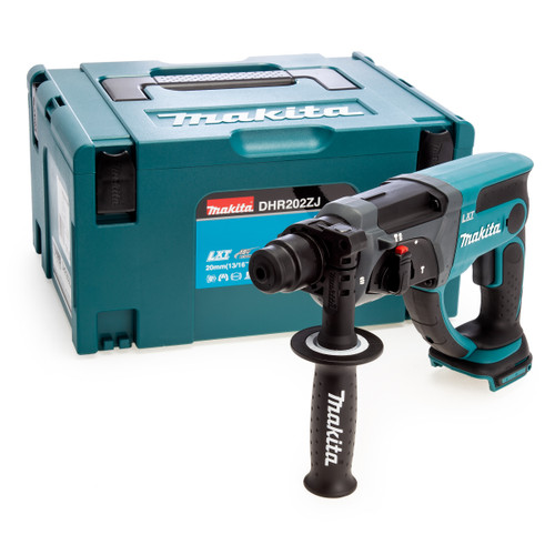 Makita DHR202ZJ 18V SDS Plus Rotary Hammer Drill (Body Only) in MakPac Case