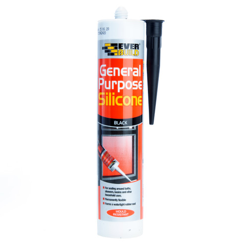 Everbuild GPSBK General Purpose Silicone Black 280ml