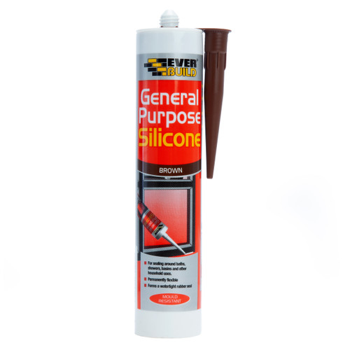 Everbuild GPSBN General Purpose Silicone Brown 280ml