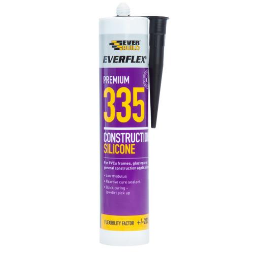 Everbuild 335BK Everflex 335 Construction Silicone Black 295ml