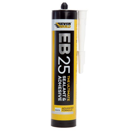 Everbuild EB25WE Ultimate Sealant and Adhesive White 300ml