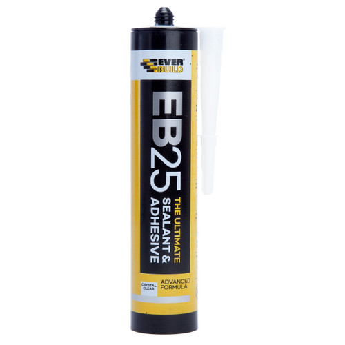 Everbuild EB25CLEAR Ultimate Sealant and Adhesive Clear 300ml