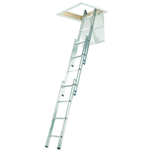 Aluminium 3 Section Loft Ladder 12 Rung - 3.00 Metre Maximum