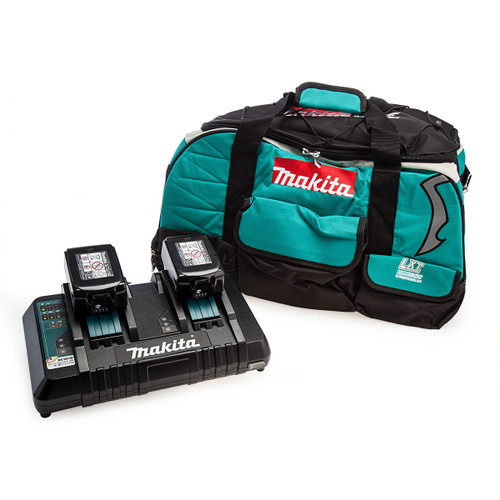 Makita Starter Kit - Twin Charger, Fabric Carry Bag and 2 x 5.0Ah Batteries