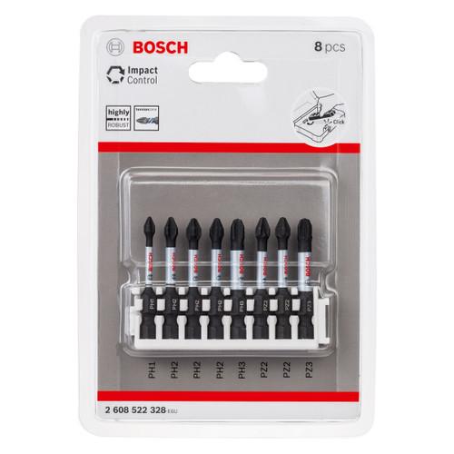 Bosch 2608522328 Impact Control Screwdriver Bit Set 50mm (8 Piece)