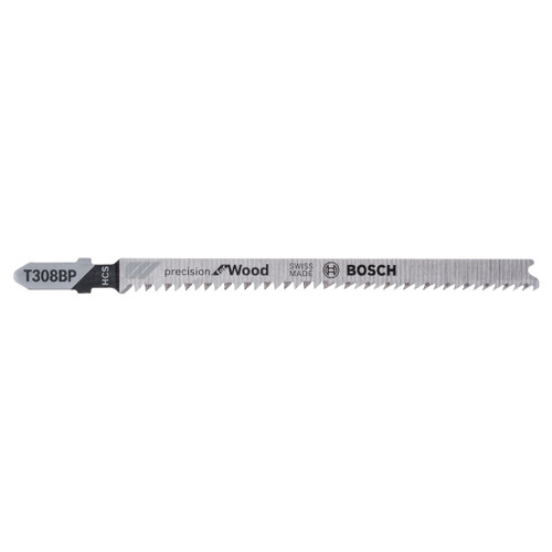 Bosch T308BP (2608667400) Jigsaw Blades HCS Precision for Wood (Pack Of 5)