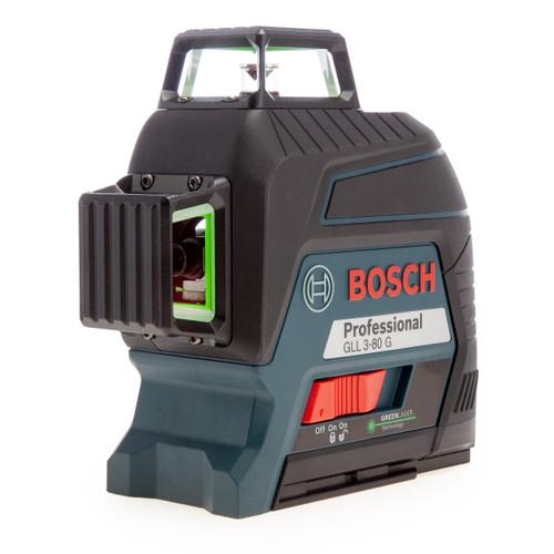Bosch GLL3-80G (0601063Y00) 3 x 360° Green Beam Laser Kit in Case