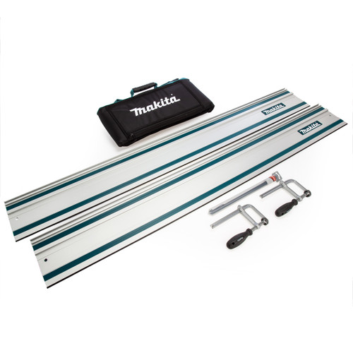 Makita Guide Rail Kit - 2 x Rails, 2 Clamps, Connector and Bag