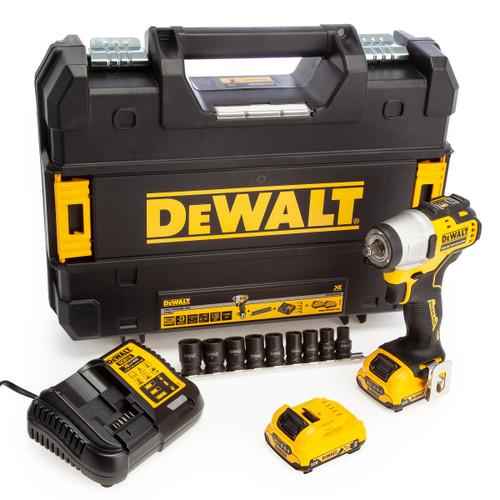 Dewalt DCF902D2K 12V Brushless Impact Wrench and Socket Set (2 x 2.0Ah Batteries) 2