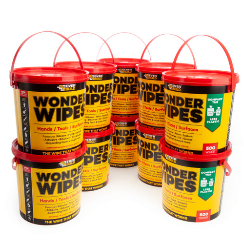 Everbuild MONSTERW-10 Wonder Wipes Monster Tub 500 Wipes (Box of 10 Tubs)